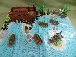 TSD Raid On Pirate Skull Island Custom Limited Edition Playset