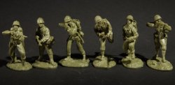 Austin Miniatures U.S. WWII Marines Pacific Theatre Soldiers Set 2