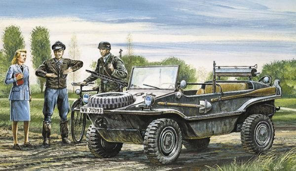 Image 0 of Italeri 1/35 Schwimmwagen Military Vehicle Model Kit