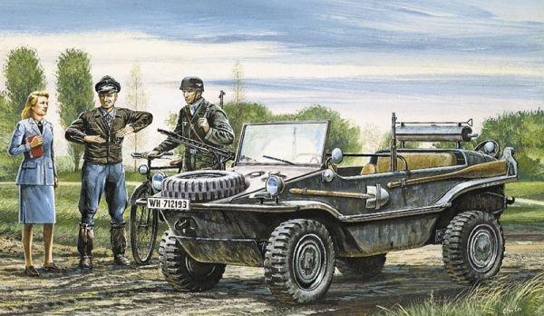 Image 0 of Italeri 1/35 Schwimmwagen Military Vehicle Model Kit