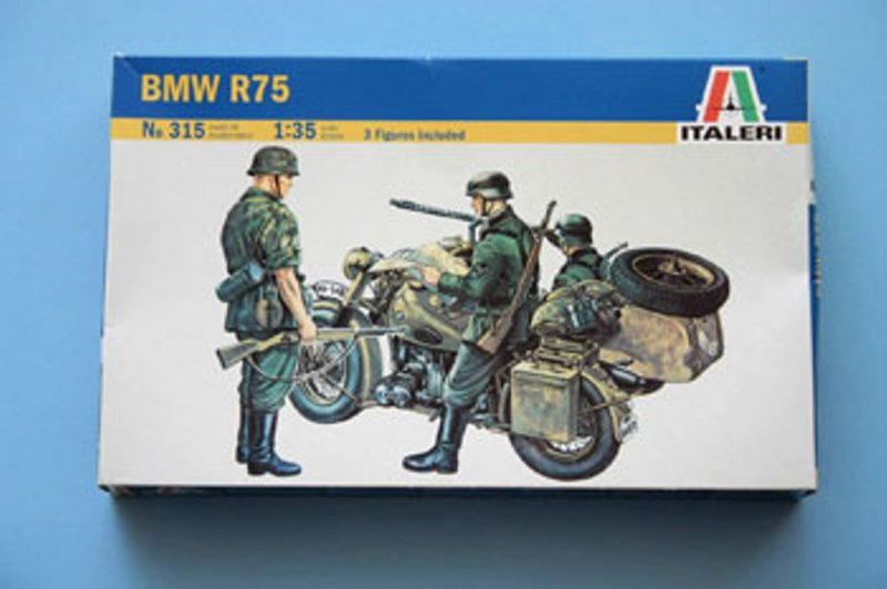 Image 0 of Italeri 1/35 BMW Motorcycle w/Sidecar