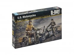 Italeri 1/35 WWII US Soldiers on Motorcycles (2) D-Day