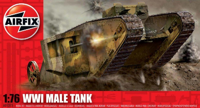 Image 0 of Airfix 1/76 WWI Male Tank Plastic Model Kit