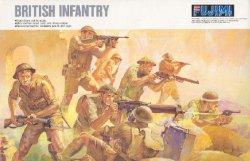Fujimi 1/76 British 8th Army WWII Plastic Infantry Soldiers Set