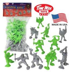 TimMee Legendary Battle 70mm Plastic Fantasy Figures Set