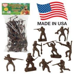 TimMee Recast Frontiersman Pioneers Plastic 24 Pc Figures Set