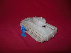 Marx Recast Hard Plastic U.S. Army Tank