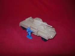 Marx Recast Hard Plastic  Armored Scout Car