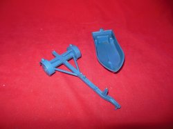Marx MPC Recast Plastic Motorboat With Trailer