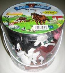 Jumbo Farm Animals Tub Playset 637