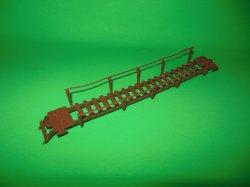 MPC Recast Brown Plastic Rope Bridge Accessory