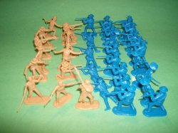 BMC 37 piece Plastic Alamo Figures Set