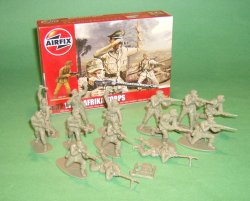 1/32nd Scale Airfix World War II German Afrika Korp Plastic Soldiers Set