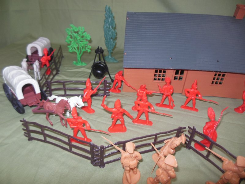 Image 1 of TSD Revolutionary War Frontier Raid Limited Edition Playset
