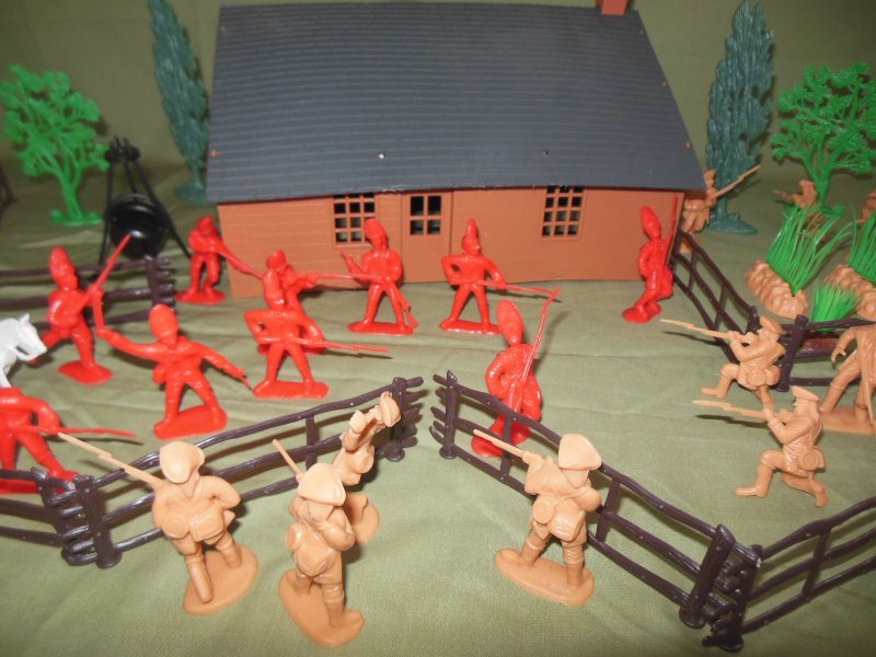 Image 3 of TSD Revolutionary War Frontier Raid Limited Edition Playset