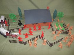TSD Revolutionary War Frontier Raid Limited Edition Playset