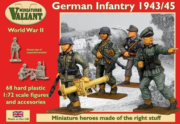 Image 0 of Valiant Miniatures 1/72 WWII German Infantry 1943/45 (68)