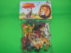 Animal Kingdom Wild Animals Plastic Figures Set