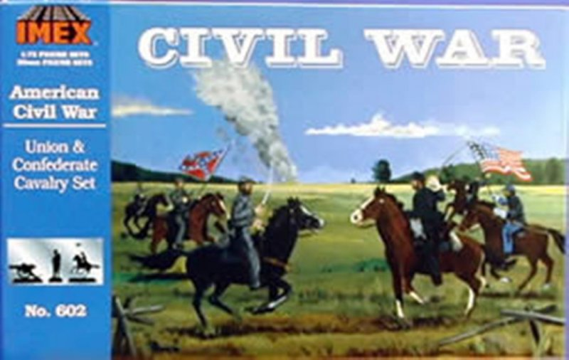 Image 0 of Imex 1/72 Union & Confederate Cavalry Civil War Figure Set 602