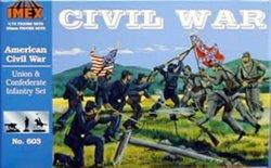 Imex 1/72 Union & Confederate Infantry Civil War Figure Set 603