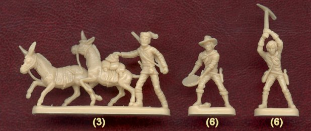 Image 1 of Nexus 1/72nd Scale Western Gold Rush Plastic Figures Set
