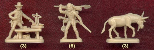 Image 3 of Nexus 1/72nd Scale Western Gold Rush Plastic Figures Set
