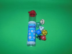 Koplow Games Inc 7 Pc Polyhedral DICE Tube Set