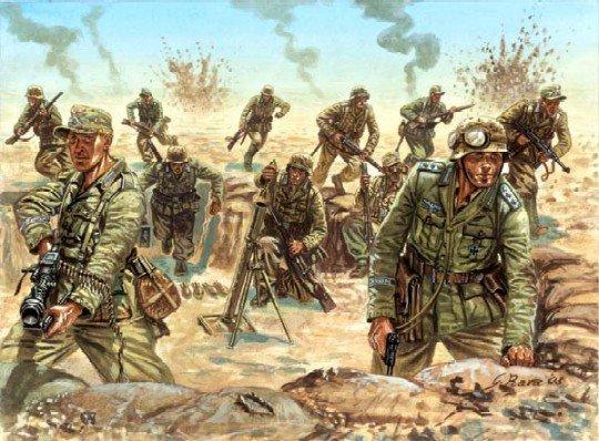 Image 0 of Italeri World War 2 1/72nd German DAK Afrika Korp Soldiers Set 6099