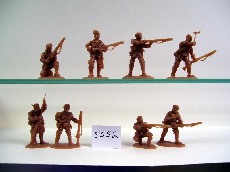Image 1 of AIP 1/32 Battlefield Combo Series French & Indian War Figures Set 5659