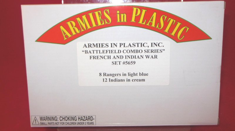 Image 0 of AIP 1/32 Battlefield Combo Series French & Indian War Figures Set 5659