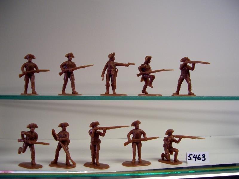 Image 1 of AIP 1/32 Battlefield Combo Series American Revolutionary War Figures Set 5660