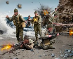 Revell 1/76nd Scale WWII British Commandos Plastic Soldiers Set 2530