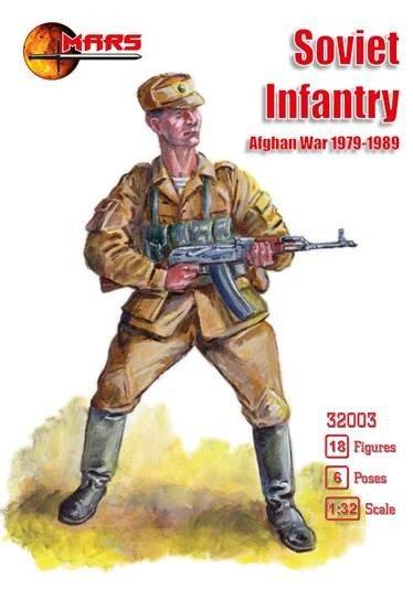 Image 0 of Mars 1/32 Scale Soviet Infantry Afghan War Soldiers Set 1979-1989 Era
