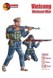 Mars 1/32 Scale Vietcong Vietnam War Plastic Soldiers Set 32004