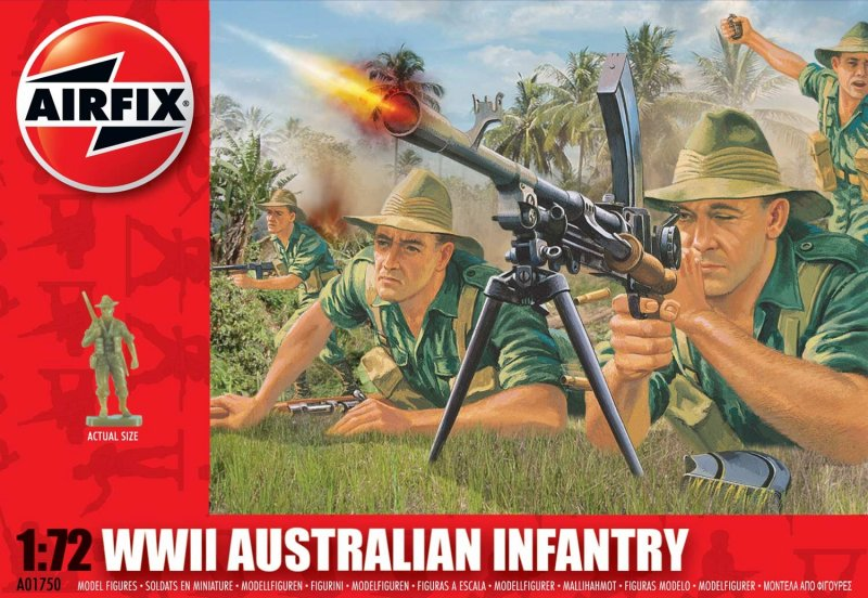 Image 0 of Airfix 1/72nd Scale WWII Australian Infantry Figures Set