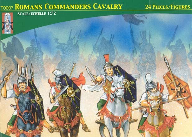 Image 0 of Lucky Toys 1/72nd Plastic Ancient Roman Commander's Cavalry Figures Set