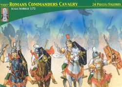 Lucky Toys 1/72nd Plastic Ancient Roman Commander's Cavalry Figures Set