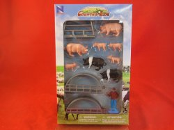 New Ray Country Life 1/2nd Scale Pigs Farm Animals Set 05515