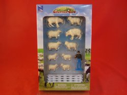 New Ray Country Life 1/2nd Scale Sheep Farm Animals Set 05515