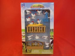 New Ray Country Life 1/2nd Scale Chickens Farm Animals Set 05515