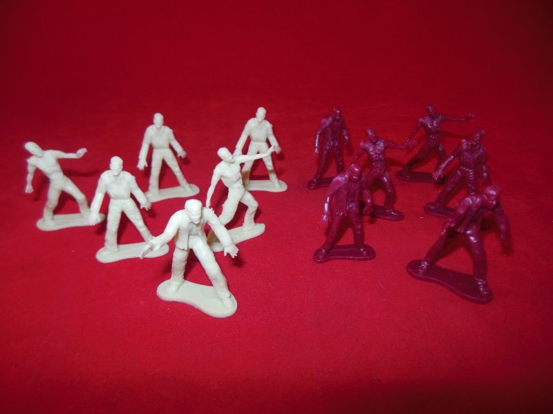 Image 0 of Set Of 12 Walking Dead Style Plastic Zombie Figures