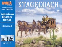 Image 0 of Imex 1/72nd Scale Plastic Western Stagecoach Set 517