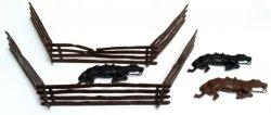 Classic Toy Soldiers Ciivl War Split Rail Fence And Dead Horses Set 752