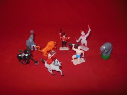 Circus Carnival Performers & Animals Plastic Figures Set