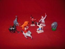 Circus Carnival Performers & Animals Plastic Figures Set