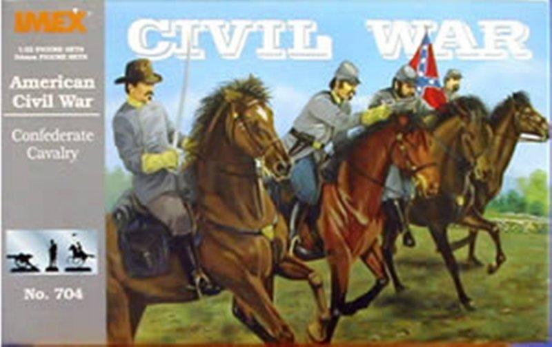 Image 0 of Imex 1/32nd Scale American Civil War Plastic Confederate Cavalry Set 704