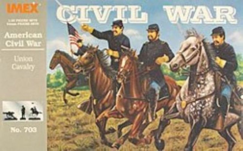 Image 0 of Imex 1/32nd Scale American Civil War Plastic Union Cavalry Set 703