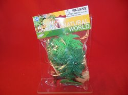 Tropical Palm Trees And Rocks Plastic Diorama Set 76733