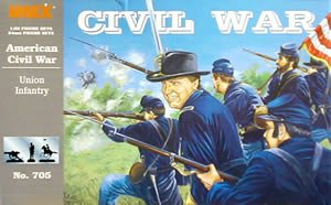 Image 0 of Imex 1/32nd Scale American Civil War Plastic Union Infantry Set 705