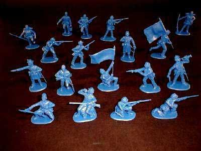 Image 1 of Imex 1/32nd Scale American Civil War Plastic Union Infantry Set 705